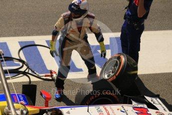 World © Octane Photographic Ltd. Trident - GP2/11 –Philo Paz Armand retires. Sunday 15th May 2016, GP2 Race 2, Circuit de Barcelona Catalunya, Spain. Digital Ref : 1551CB1D0965