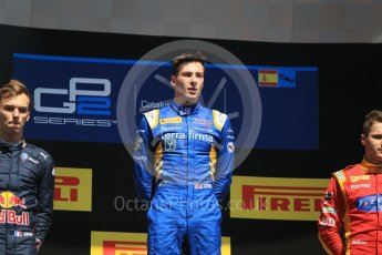 World © Octane Photographic Ltd. DAMS - GP2/11 – Alex Lynn (1st). Sunday 15th May 2016, GP2 Race 2, Circuit de Barcelona Catalunya, Spain. Digital Ref :1551CB1D1081