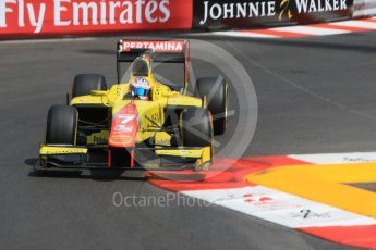 World © Octane Photographic Ltd. Pertamina Campos Racing - GP2/11 – Mitch Evans. Thursday 26th May 2016, GP2 Practice, Monaco, Monte Carlo. Digital Ref : 1558CB7D0927