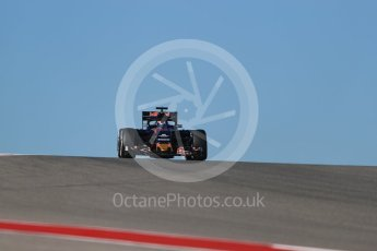 World © Octane Photographic Ltd. Scuderia Toro Rosso STR11 with Halo – Daniil Kvyat. Friday 21st October 2016, F1 USA Grand Prix Practice 1, Austin, Texas – Circuit of the Americas (COTA). Digital Ref :1742LB1D9802