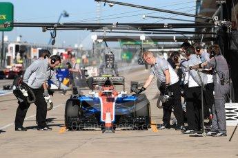 World © Octane Photographic Ltd. Manor Racing MRT05 – Esteban Ocon. Saturday 22nd October 2016, F1 USA Grand Prix Practice 3, Austin, Texas – Circuit of the Americas (COTA). Digital Ref :1745LB1D1932