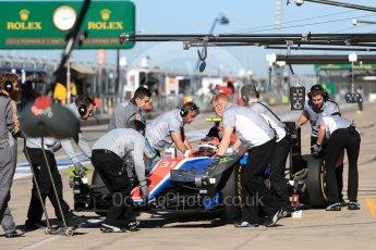 World © Octane Photographic Ltd. Manor Racing MRT05 – Esteban Ocon. Saturday 22nd October 2016, F1 USA Grand Prix Practice 3, Austin, Texas – Circuit of the Americas (COTA). Digital Ref :1745LB1D1941