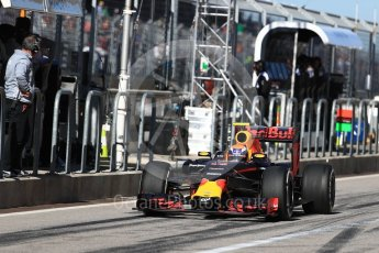 World © Octane Photographic Ltd. Red Bull Racing RB12 – Max Verstappen. Saturday 22nd October 2016, F1 USA Grand Prix Practice 3, Austin, Texas – Circuit of the Americas (COTA). Digital Ref :1745LB1D2201