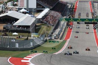 World © Octane Photographic Ltd. Formation lap under way. Sunday 23rd October 2016, F1 USA Grand Prix Race, Austin, Texas – Circuit of the Americas (COTA). Digital Ref :1749LB1D3541