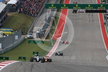 World © Octane Photographic Ltd. Mercedes AMG Petronas W07 Hybrid – Lewis Hamilton. Sunday 23rd October 2016, F1 USA Grand Prix Race, Austin, Texas – Circuit of the Americas (COTA). Digital Ref :1749LB1D3700