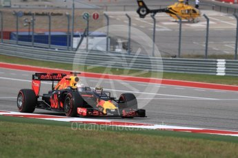 World © Octane Photographic Ltd. Red Bull Racing RB12 – Daniel Ricciardo. Sunday 23rd October 2016, F1 USA Grand Prix Race, Austin, Texas – Circuit of the Americas (COTA). Digital Ref :1749LB1D3857