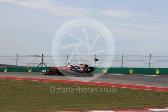 World © Octane Photographic Ltd. Scuderia Ferrari SF16-H – Kimi Raikkonen and McLaren Honda MP4-31 – Jenson Button. Sunday 23rd October 2016, F1 USA Grand Prix Race, Austin, Texas – Circuit of the Americas (COTA). Digital Ref : 1749LB1D4032