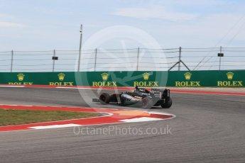 World © Octane Photographic Ltd. Sahara Force India VJM09 - Sergio Perez. Sunday 23rd October 2016, F1 USA Grand Prix Race, Austin, Texas – Circuit of the Americas (COTA). Digital Ref : 1749LB1D4040