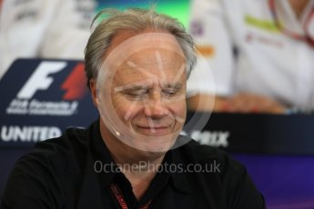 World © Octane Photographic Ltd. F1 USA Grand Prix Practice 2, Austin Texas – Circuit of the Americas (COTA) FIA Personnel Press Conference. Friday 21st October 2016. Gene Haas - Haas F1 Team Owner. Digital Ref :1744LB1D1439