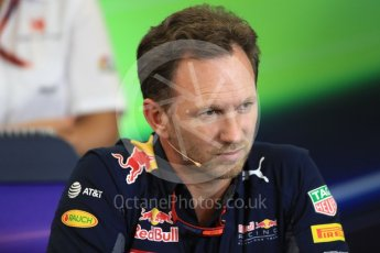 World © Octane Photographic Ltd. F1 USA Grand Prix Practice 2, Austin Texas – Circuit of the Americas (COTA) FIA Personnel Press Conference. Friday 21st October 2016. Christian Horner - Red Bull Racing Team Principal. Digital Ref :1744LB1D1481