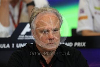 World © Octane Photographic Ltd. F1 USA Grand Prix Practice 2, Austin Texas – Circuit of the Americas (COTA) FIA Personnel Press Conference. Friday 21st October 2016. Gene Haas - Haas F1 Team Owner. Digital Ref :1744LB1D1500