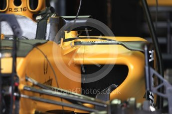 World © Octane Photographic Ltd. Renault Sport F1 Team RS16 body turning vane. Thursday 20th October 2016, F1 USA Grand Prix, Austin, Texas – Circuit of the Americas (COTA). Digital Ref :