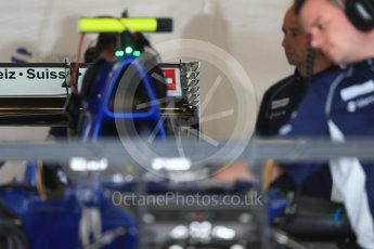 World © Octane Photographic Ltd. Sauber F1 Team C35 rear wing. Thursday 20th October 2016, F1 USA Grand Prix, Austin, Texas – Circuit of the Americas (COTA). Digital Ref :