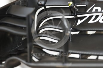 World © Octane Photographic Ltd. Williams Martini Racing, Williams Mercedes FW38 front wing. Thursday 20th October 2016, F1 USA Grand Prix, Austin, Texas – Circuit of the Americas (COTA). Digital Ref :1740LB1D9619