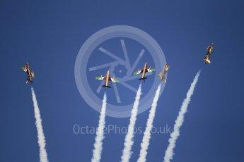 World © Octane Photographic Ltd. UAE Al Fursan (The Knights) Air Display Team – Aermacchi MB-339A. Saturday 25th November 2017, F1 Abu Dhabi GP - Yas Marina circuit, Abu Dhabi. Digital Ref : -2011CB1L7830