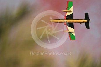 World © Octane Photographic Ltd. UAE Al Fursan (The Knights) Air Display Team – Aermacchi MB-339A. Saturday 25th November 2017, F1 Abu Dhabi GP - Yas Marina circuit, Abu Dhabi. Digital Ref : 2011CB1L7978