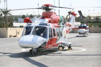 World © Octane Photographic Ltd. Formula 1 - Abu Dhabi Grand Prix - Friday Practice 1. Medical Helicopter. Yas Marina Circuit, Abu Dhabi. Friday 24th November 2017. Digital Ref:
