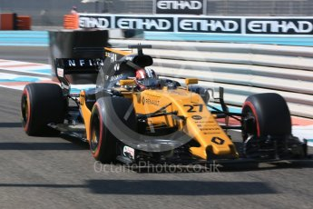 World © Octane Photographic Ltd. Formula 1 - Abu Dhabi Grand Prix - Friday Practice 1. Nico Hulkenberg - Renault Sport F1 Team R.S.17. Yas Marina Circuit, Abu Dhabi. Friday 24th November 2017. Digital Ref:
