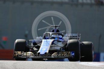 World © Octane Photographic Ltd. Formula 1 - Abu Dhabi Grand Prix - Friday Practice 1. Marcus Ericsson with HALO – Sauber F1 Team C36. Yas Marina Circuit, Abu Dhabi. Friday 24th November 2017. Digital Ref: