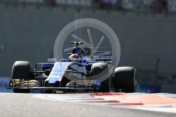 World © Octane Photographic Ltd. Formula 1 - Abu Dhabi Grand Prix - Friday Practice 1. Pascal Wehrlein – Sauber F1 Team C36. Yas Marina Circuit, Abu Dhabi. Friday 24th November 2017. Digital Ref: