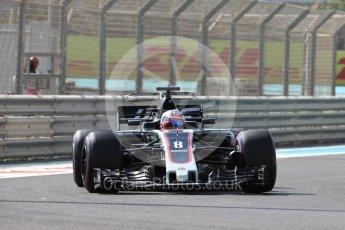 World © Octane Photographic Ltd. Formula 1 - Abu Dhabi Grand Prix - Friday Practice 1. Romain Grosjean - Haas F1 Team VF-17. Yas Marina Circuit, Abu Dhabi. Friday 24th November 2017. Digital Ref: