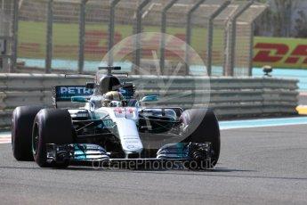 World © Octane Photographic Ltd. Formula 1 - Abu Dhabi Grand Prix - Friday Practice 1. Lewis Hamilton - Mercedes AMG Petronas F1 W08 EQ Energy+. Yas Marina Circuit, Abu Dhabi. Friday 24th November 2017. Digital Ref: