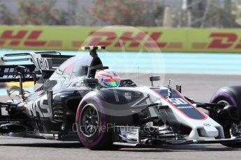 World © Octane Photographic Ltd. Formula 1 - British Grand Prix. Antonio Giovinazzi - Haas F1 Team VF-17 Reserve Driver. Yas Marina Circuit, Abu Dhabi. Friday 24th November 2017. Digital Ref:
