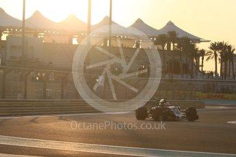 World © Octane Photographic Ltd. Formula 1 - Abu Dhabi Grand Prix - Friday - Practice 2. Romain Grosjean - Haas F1 Team VF-17. Yas Marina Circuit, Abu Dhabi. Friday 24th November 2017. Digital Ref: 2003CB1L6040
