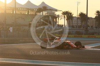 World © Octane Photographic Ltd. Formula 1 - Abu Dhabi Grand Prix - Friday - Practice 2. Fernando Alonso - McLaren Honda MCL32. Yas Marina Circuit, Abu Dhabi. Friday 24th November 2017. Digital Ref: 2003CB1L6069