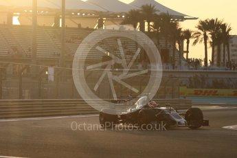 World © Octane Photographic Ltd. Formula 1 - Abu Dhabi Grand Prix - Friday - Practice 2. Kevin Magnussen - Haas F1 Team VF-17. Yas Marina Circuit, Abu Dhabi. Friday 24th November 2017. Digital Ref: 2003CB1L6079