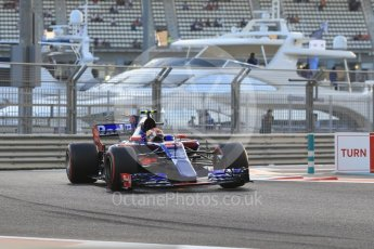 World © Octane Photographic Ltd. Formula 1 - Abu Dhabi Grand Prix - Friday - Practice 2. Pierre Gasly - Scuderia Toro Rosso STR12. Yas Marina Circuit, Abu Dhabi. Friday 24th November 2017. Digital Ref: 2003CB1L6516