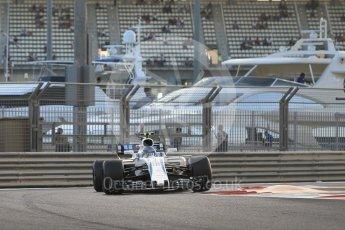 World © Octane Photographic Ltd. Formula 1 - Abu Dhabi Grand Prix - Friday - Practice 2. Lance Stroll - Williams Martini Racing FW40. Yas Marina Circuit, Abu Dhabi. Friday 24th November 2017. Digital Ref: 2003CB1L6532