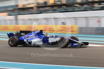 World © Octane Photographic Ltd. Formula 1 - Abu Dhabi Grand Prix - Friday - Practice 2. Pascal Wehrlein – Sauber F1 Team C36. Yas Marina Circuit, Abu Dhabi. Friday 24th November 2017. Digital Ref: 2003CB1L6658