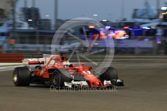 World © Octane Photographic Ltd. Formula 1 - Abu Dhabi Grand Prix - Friday - Practice 2. Sebastian Vettel - Scuderia Ferrari SF70H. Yas Marina Circuit, Abu Dhabi. Friday 24th November 2017. Digital Ref: 2003CB1L6730