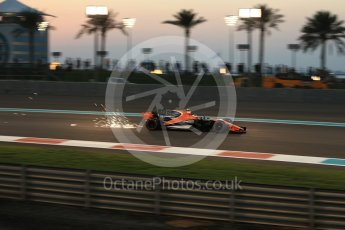 World © Octane Photographic Ltd. Formula 1 - Abu Dhabi Grand Prix - Friday - Practice 2. Stoffel Vandoorne - McLaren Honda MCL32. Yas Marina Circuit, Abu Dhabi. Friday 24th November 2017. Digital Ref: 2003LB2D9125