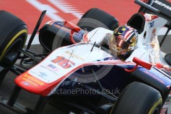 World © Octane Photographic Ltd. FIA Formula 2 (F2) - Practice. Nabil Jeffri – Trident. Abu Dhabi Grand Prix, Yas Marina Circuit. 24th November 2017. Digital Ref:2000CB5D9726