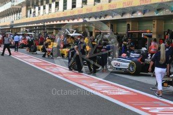 World © Octane Photographic Ltd. FIA Formula 2 (F2) - Practice. Pit lane preparation. Abu Dhabi Grand Prix, Yas Marina Circuit. 24th November 2017. Digital Ref:2000CB5D9745