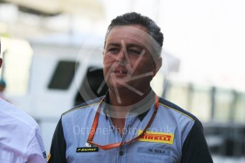 World © Octane Photographic Ltd. GP3 Race 1 - Abu Dhabi Grand Prix. Mario Isola – Pirelli Head of Car Racing. Yas Marina Circuit, Abu Dhabi. Saturday 25th November 2017. Digital Ref: