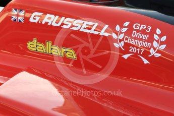 World © Octane Photographic Ltd. GP3 - Practice. George Russell - ART Grand Prix. Abu Dhabi Grand Prix, Yas Marina Circuit. Friday 24th November 2017. Digital Ref:1999LB5D9601