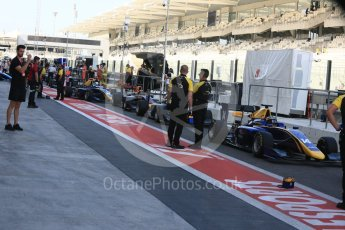 World © Octane Photographic Ltd. GP3 - Practice. Pit lane preparations. Abu Dhabi Grand Prix, Yas Marina Circuit. Friday 24th November 2017. Digital Ref:1999LB5D9611