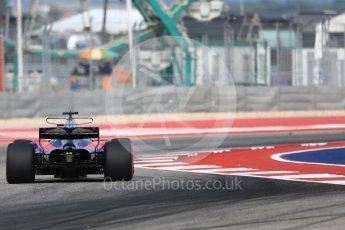 World © Octane Photographic Ltd. Formula 1 - American Grand Prix - Friday - Practice 2. Brendon Hartley - Scuderia Toro Rosso STR12. Circuit of the Americas, Austin, Texas, USA. Friday 20th October 2017. Digital Ref: 1987LB1D4286