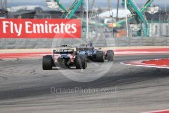 World © Octane Photographic Ltd. Formula 1 - American Grand Prix - Friday - Practice 2. Fernando Alonso - McLaren Honda MCL32. Circuit of the Americas, Austin, Texas, USA. Friday 20th October 2017. Digital Ref: 1987LB1D4294