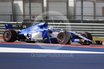 World © Octane Photographic Ltd. Formula 1 - American Grand Prix - Friday - Practice 2. Marcus Ericsson – Sauber F1 Team C36. Circuit of the Americas, Austin, Texas, USA. Friday 20th October 2017. Digital Ref: 1987LB1D4352