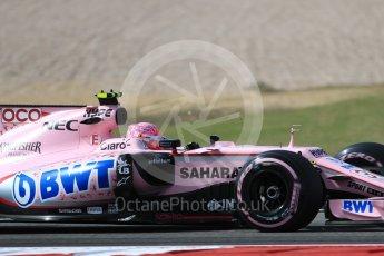 World © Octane Photographic Ltd. Formula 1 - American Grand Prix - Friday - Practice 2. Esteban Ocon - Sahara Force India VJM10. Circuit of the Americas, Austin, Texas, USA. Friday 20th October 2017. Digital Ref: 1987LB1D4652