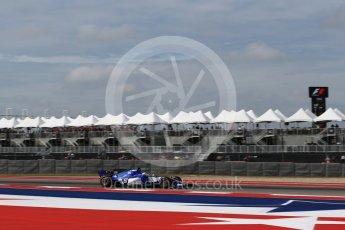 World © Octane Photographic Ltd. Formula 1 - American Grand Prix - Friday - Practice 2. Marcus Ericsson – Sauber F1 Team C36. Circuit of the Americas, Austin, Texas, USA. Friday 20th October 2017. Digital Ref: 1987LB2D6191