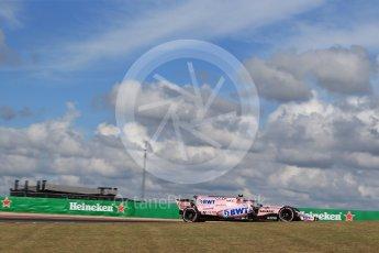 World © Octane Photographic Ltd. Formula 1 - American Grand Prix - Friday - Practice 2. Esteban Ocon - Sahara Force India VJM10. Circuit of the Americas, Austin, Texas, USA. Friday 20th October 2017. Digital Ref: 1987LB2D6201
