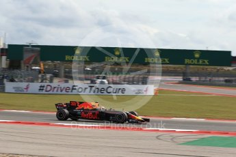 World © Octane Photographic Ltd. Formula 1 - American Grand Prix - Friday - Practice 2. Max Verstappen - Red Bull Racing RB13. Circuit of the Americas, Austin, Texas, USA. Friday 20th October 2017. Digital Ref: 1987LB2D6410