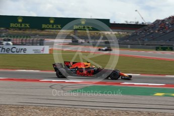 World © Octane Photographic Ltd. Formula 1 - American Grand Prix - Friday - Practice 2. Max Verstappen - Red Bull Racing RB13. Circuit of the Americas, Austin, Texas, USA. Friday 20th October 2017. Digital Ref: 1987LB2D6544