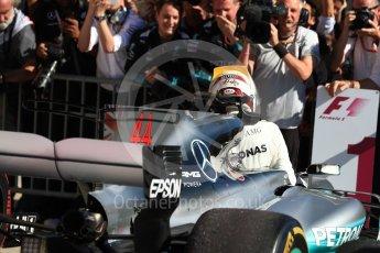 World © Octane Photographic Ltd. Formula 1 - American Grand Prix - Sunday - Race Podium. Lewis Hamilton - Mercedes AMG Petronas F1 W08 EQ Energy+. Circuit of the Americas, Austin, Texas, USA. Sunday 22nd October 2017. Digital Ref: 1995LB1D0204