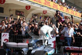 World © Octane Photographic Ltd. Formula 1 - American Grand Prix - Sunday - Race Podium. Lewis Hamilton - Mercedes AMG Petronas F1 W08 EQ Energy+. Circuit of the Americas, Austin, Texas, USA. Sunday 22nd October 2017. Digital Ref: 1995LB1D0229
